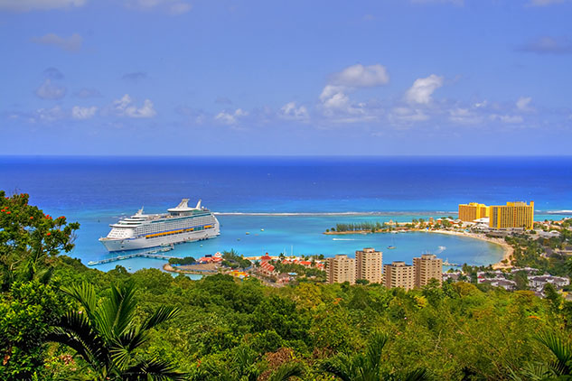 Cruise ship in Ocho Rios, Jamaica.