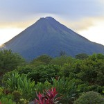 Arenal Volcano at Dusk