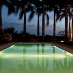 Swimming pool landscape in Panama