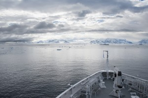 Antarctica. View from the cruise ship